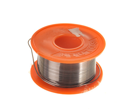 soldering: Spool of soldering tin