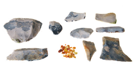 Stone age tools from Denmark     Ertebølletid ca  5 400 BC – ca 3 900 BC    Stock Photo