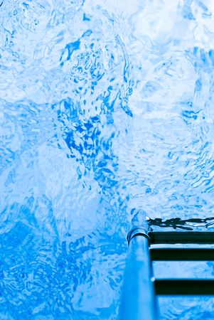 moire: View from inside of swimming pool. Stock Photo