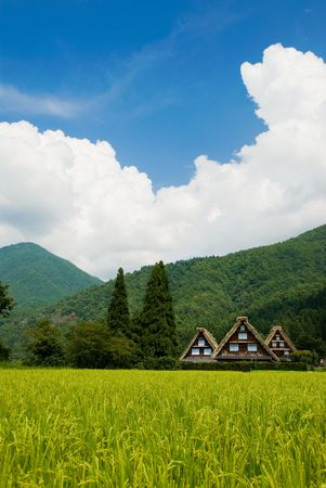 shirakawago: The world heritage Shirakawa-go. Stock Photo