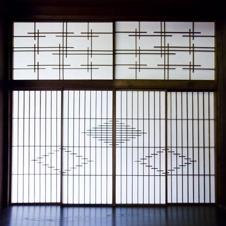 障子紙の画面では、日本。 写真素材