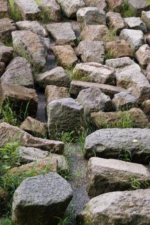 いくつかのサイズの岩