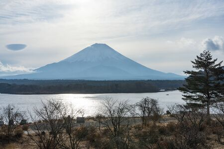Beautiful View of Mt. Fuji from the Lake.