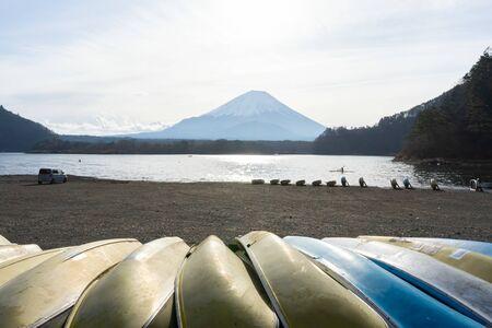 magnificent view on a representative lake near Mt. Fuji.