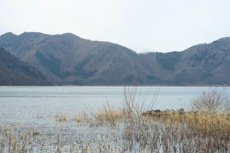 a magnificent view on a representative lake near Mt. Fuji.