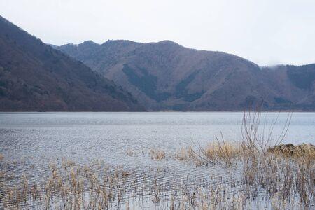 I photographed a magnificent view on a representative lake near Mt. Fuji. 스톡 콘텐츠