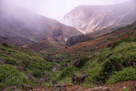Alpine scenery near the mist crater.
