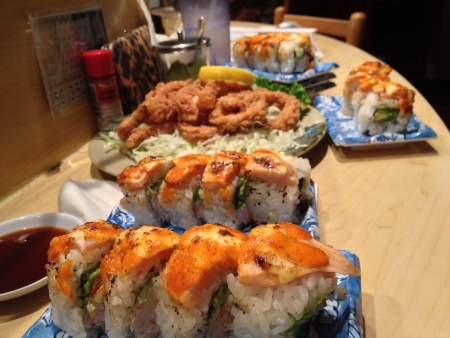 Sushi and calamari