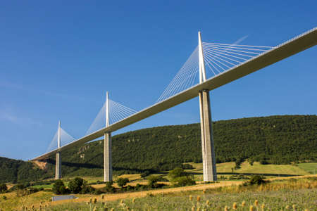 tallest bridge: The Millau Viaduct, a cable stayed bridge that spans the valley of the River Tarn near Millau in southern France. It is the tallest bridge in the world with one masts summit at 343 m.
