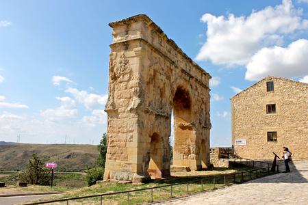 The ancient Roman arch gate of Medinaceli, in Castile and Leon, Spain