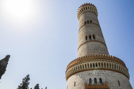 The Torre di San Martino della Battaglia, a monumental tower erected in 1878 to commemorate the Battle of Solferino. Desenzano del Garda, Lombardy, Italy