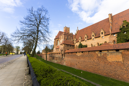 residence: The Castle of the Teutonic Order in Malbork, Poland. A World Heritage Site since 1997