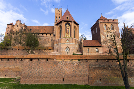 The Castle of the Teutonic Order in Malbork, Poland. A World Heritage Site since 1997