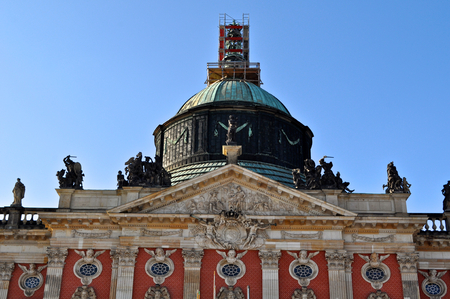 residence: The Neues Palais or New Palace, a Baroque and Rococo royal residence in Park Sanssouci, Potsdam, Germany
