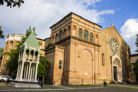 The Basilica di San Domenico, one of the major churches in Bologna, Italy, with the tomb of Rolandino de Passeggeri.