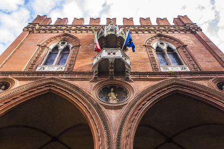 The Palazzo della Mercanzia in Bologna, Italy