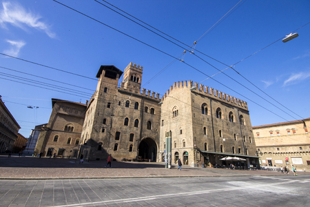 The Palazzo Re Enzo in Bologna, Italy
