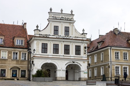 The main post office in Sandomierz, Poland