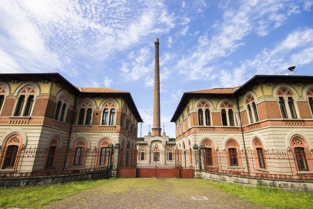 Crespi d'Adda, a historic settlement in Lombardy, Italy, and a great example of the 19th-century company towns built in Europe. A World Heritage Site since 1995