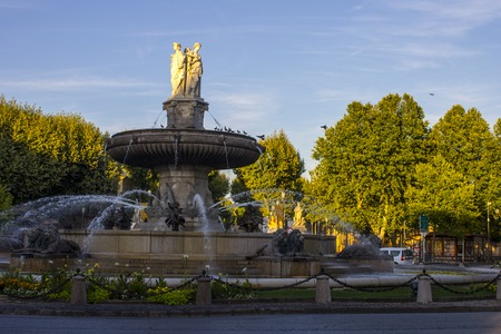 thoroughfare: The Cours Mirabeau, a wide thoroughfare in Aix-en-Provence, France