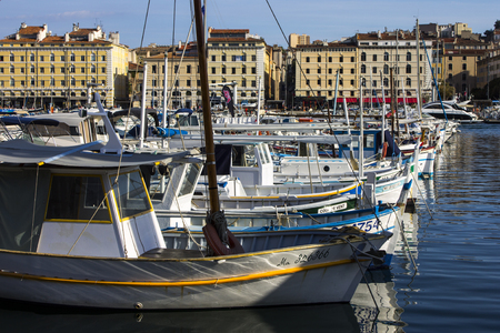 Inside the French city of Marseille, in the area surrounding the Old Port