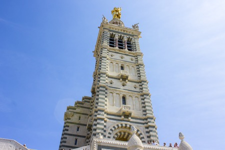 Notre-Dame de la Garde (Our Lady of the Guard), a Catholic basilica and pilgrimage site in Marseille, France,and the citys best-known symbol. Most-visited site in Marseille