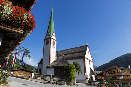The Saint Oswald Parish Church in Alpbach, a town in western Austria in the state of Tyrol
