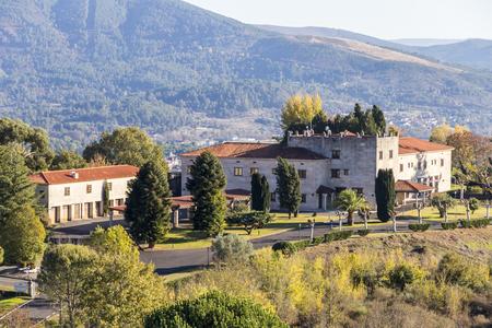 The Castelo de Monterrei, a parador hotel near the town of Verin, Galicia, Spain