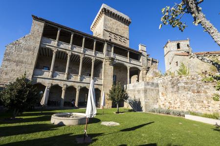 The courtyard of the Castelo de Monterrei, a 12th-century castle near the town of Verin, Galicia, Spain, now a parador hotel