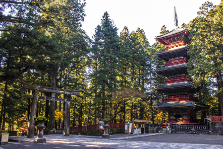 Tosho-gu, a Shinto shrine dedicated to Tokugawa Ieyasu, the founder of the Tokugawa shogunate, located in Nikko, Japan.
