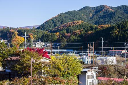 神宮や仏教寺院で有名な日本の北関東地方に位置する栃木県の日光市の街並み 写真素材