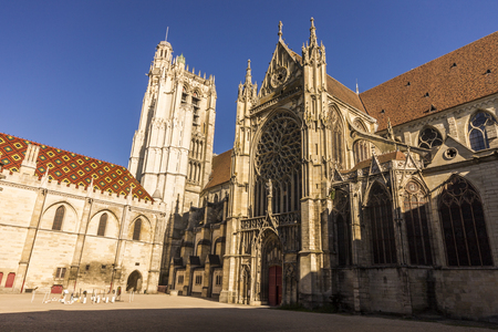 The Cathedral of Saint Stephen of Sens, a Catholic cathedral in Sens in Burgundy, eastern France, largest of the early Gothic churches