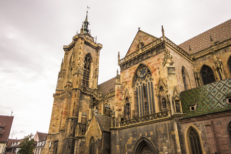 St Martins Church (Eglise Saint-Martin), largest church in Colmar and one of the largest in Haut-Rhin, Alsace, France