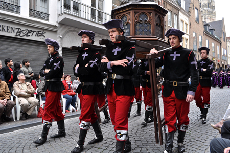 Bruges, Belgium. The Procession of the Holy Blood (Heilig Bloedprocessie), a large religious Catholic procession on Ascension Day