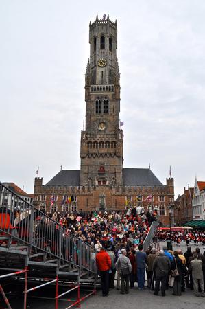Brugia, Belgia. Procesja Świętej Krwi (Heilig Bloedprocessie), duża katolicka procesja religijna w Dzień Wniebowstąpienia Publikacyjne