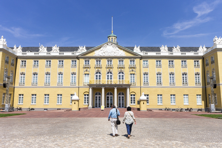 Karlsruhe, Germany. The Karlsruhe Palace (Karlsruher Schloss), a palace erected in 1715 by Margrave Charles III William of Baden-Durlach