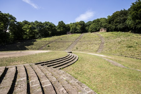 The Heidelberger Thingstatte, Germany, an open-air theatre on the Heiligenberg in Heidelberg, Baden-Wurttemberg, built during the Third Reich in Nazi Germany