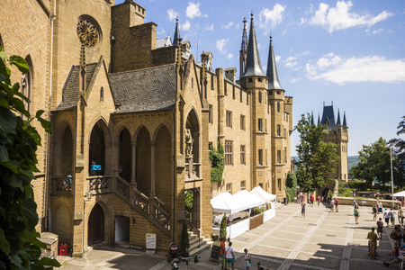 Burg Hohenzollern, a castle in central Baden-Wurttemberg, Germany, ancestral seat of the imperial House of Hohenzollern, kings of Prussia Editorial