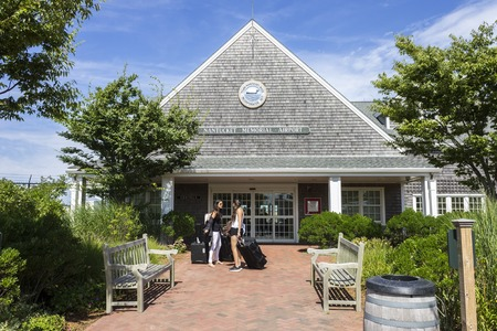 Nantucket, Massachusetts. Main entrance of Nantucket Memorial Airport, a public airport on the south side of the island of Nantucket