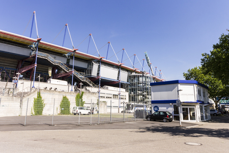 Karlsruhe, Germany. The Wildparkstadion, a football stadium home of the football club Karlsruher SC