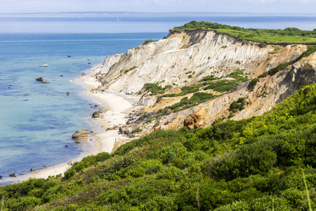 Marthas Vineyard, Massachusetts. Views of the Gay Head cliffs of clay, located on the town of Aquinnah western-most part of the island of Marthas Vineyard Reklamní fotografie