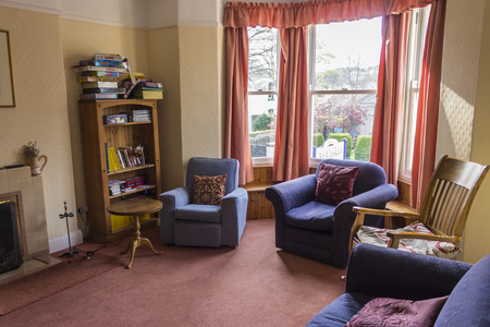 Living Room of a hostel in Ballycastle, Northern Ireland, United Kingdom Editorial