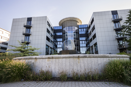 Building 3 of the headquarters of SAP SE, a German and European multinational software corporation based in Walldorf, Baden-Wurttemberg, Germany