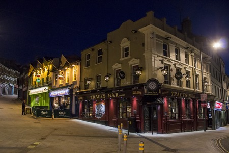 Derry - Londonderry, Northern Ireland. The Gweedore Bar, Peadar ODonnells and Tracys Bar, traditional Irish pubs in Waterloo Street Editorial