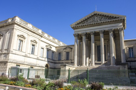 The Palais de Justice in Montpellier, France