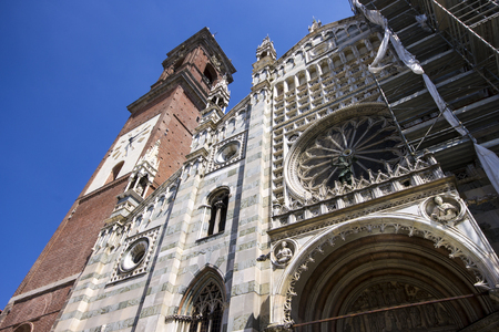 The Duomo di Monza, Italy. The only duomo that is not a cathedral, as Monza has always been part of the Diocese of Milan, but is in the charge of an archpriest Stock Photo