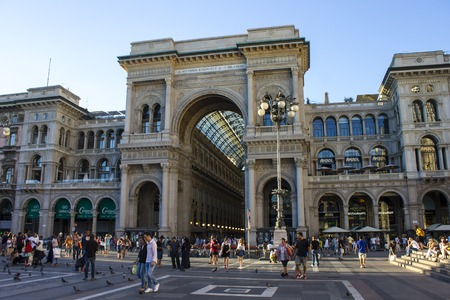 The Galleria Vittorio Emanuele II, one of the worlds oldest shopping malls. Housed within a four-story double arcade, it is named after the first king of Italy