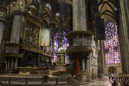 Milan Cathedral, a Gothic cathedral, largest church in Italy and the fifth largest in the world