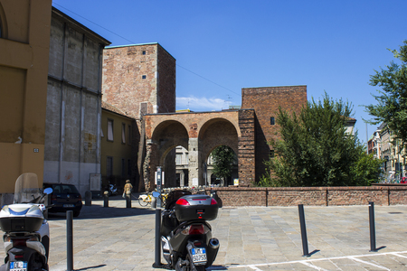 The Pusterla di Sant Ambrogio, one of the ten secondary gates of Milan medieval walls and originally built in 1171 Editorial