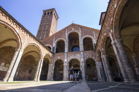The Basilica of Sant Ambrogio, one of the most ancient churches in Milan